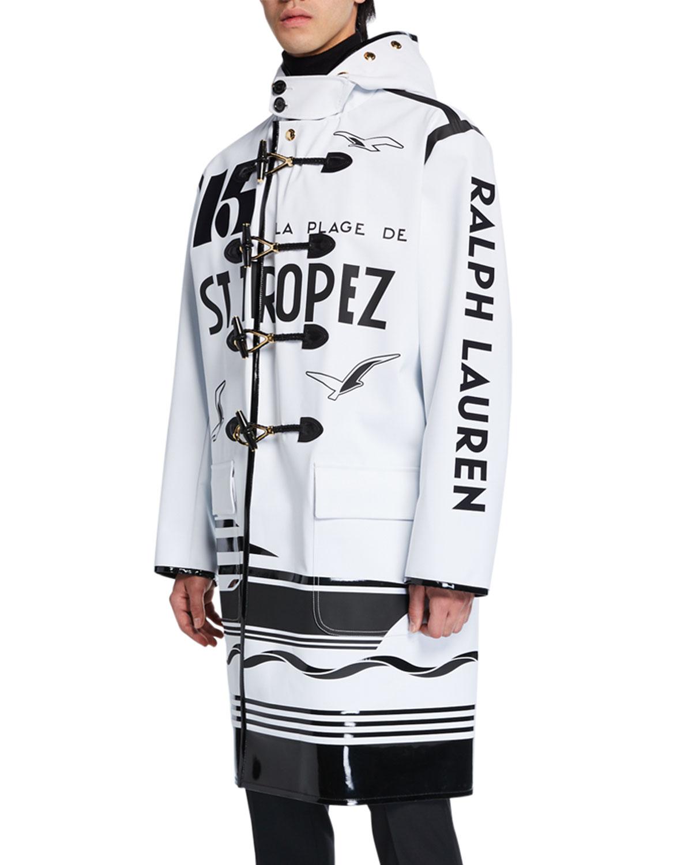 Ralph Lauren Coats MEN'S ESTEVAN TOGGLE-FRONT TYPOGRAPHIC COAT