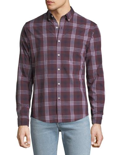 Men's Abner Plaid Slim Sport Shirt