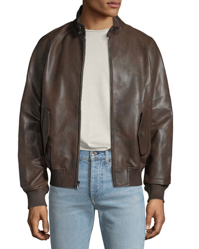 02de5dd60 Ribbed Leather Jacket | Neiman Marcus