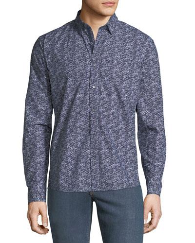 Men's CoolMax Graphic Slim Sport Shirt