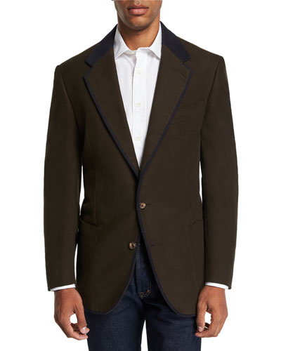 Men's Campagna Jacket with Suede Details