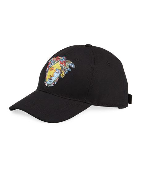 Versace Men's Medusa Head Embroidery Baseball Hat