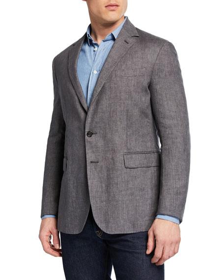 Ralph Lauren Purple Label Men's Hadley Two-Button Linen Jacket