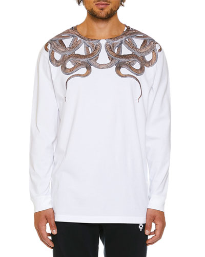 Men's Snakes Graphic Long-Sleeve T-Shirt