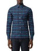 Burberry Men's George Plaid Sport Shirt