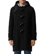 Burberry Men's Greenwich Toggle-Front Wool Coat