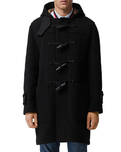 Men's Greenwich Toggle-Front Wool Coat