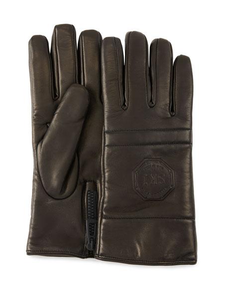 Stefano Ricci Men's Logo-Embossed Lambskin Gloves