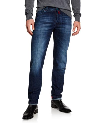 Men's Slim Fit Medium Wash Denim Jeans