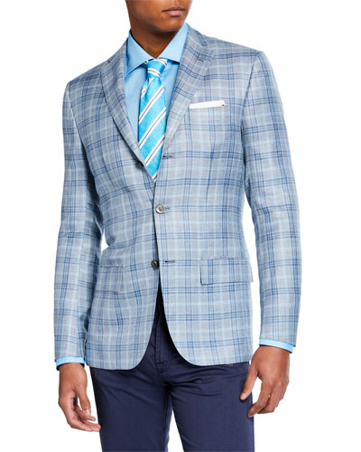 Men's Plaid Sport Jacket