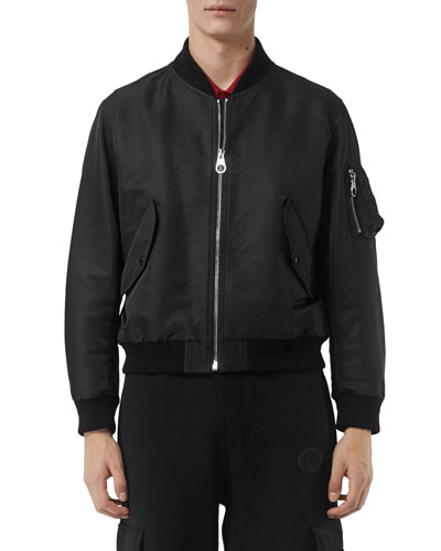 Men's Haughton Logo Graphic Bomber Jacket