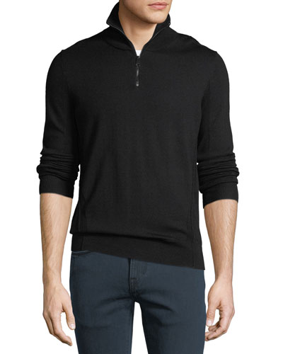 Men's Connor Quarter-Zip Wool Sweater