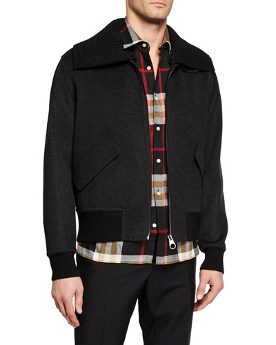 Men's Croxton Bomber Jacket with Detachable Collar
