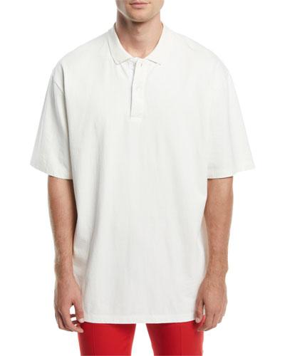 Men's Oversized Cotton Polo Shirt