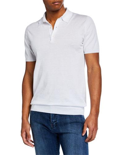Men's 3B Fine Short-Sleeve Polo Shirt