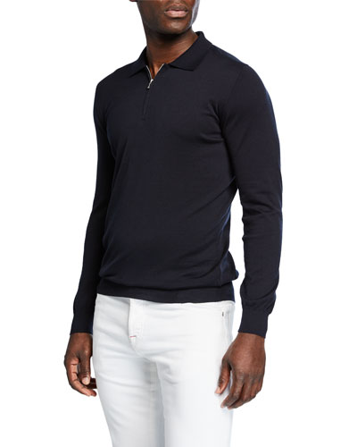 0dbd7a81e0c Quick Look. Kiton · Men's Long-Sleeve Zip Polo Shirt