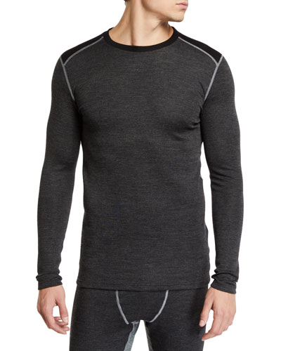 Men's Contrast-Topstitching Ski Shirt