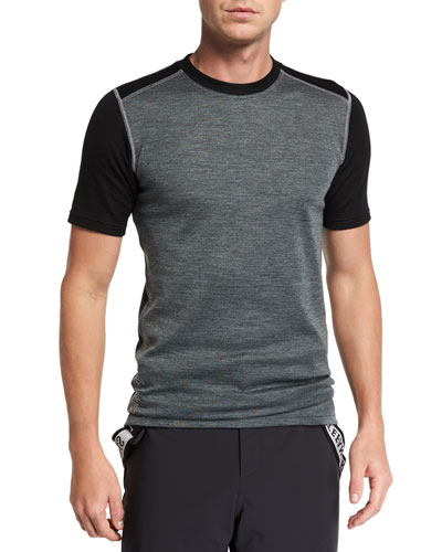 Men's Contrast-Panel T-Shirt