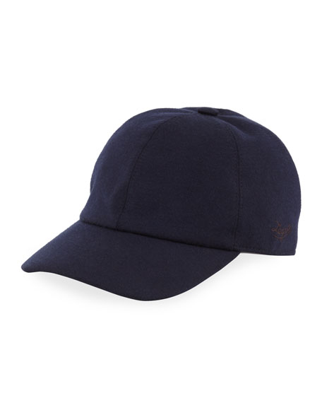 Ermenegildo Zegna Men's Cashmere-Blend Jersey Baseball Cap