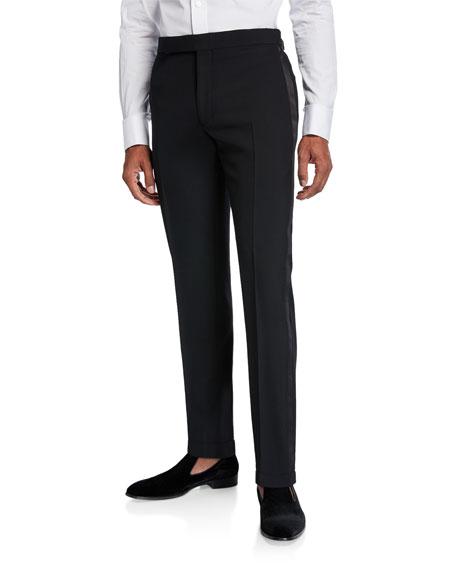 Ralph Lauren Purple Label Men's Gregory Wool Barathea Tapered Tuxedo Pants