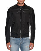 Dolce & Gabbana Men's Nylon/Leather Bomber Jacket