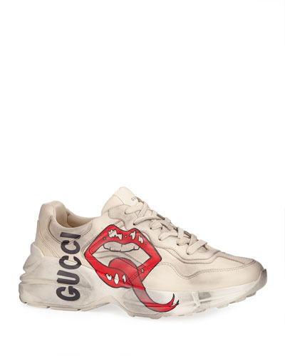 497f734e35c Quick Look. Gucci · Men s Rhyton Leather Sneakers ...