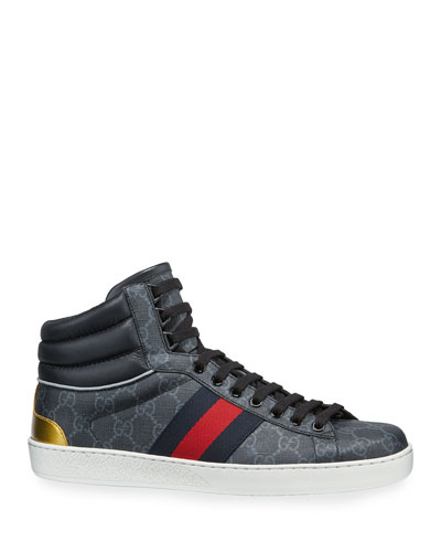 Men's Ace GG Canvas High-Top Sneakers
