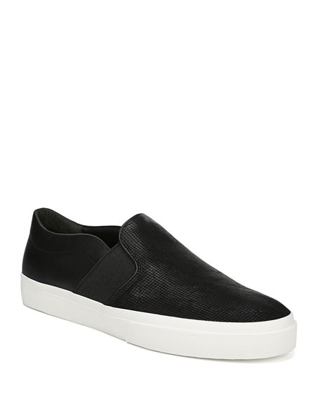 Vince Men's Fenton Perforated Suede Low-Top Sneakers