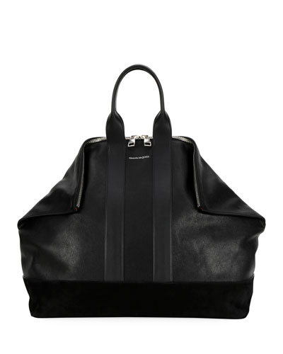 Men's De Manta Leather Tote Bag