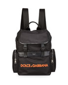 Dolce & Gabbana Men's Nylon Logo Backpack