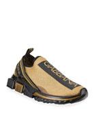 Dolce & Gabbana Men's Sorrento Logo Stripe Sneakers