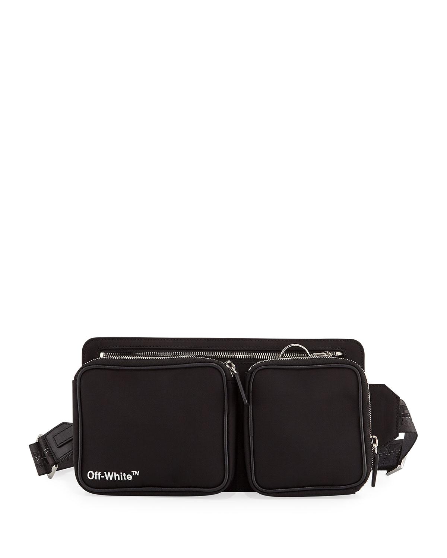 2b0a26bd111 Men's Diagonal-Panel Leather Belt Bag/Fanny Pack