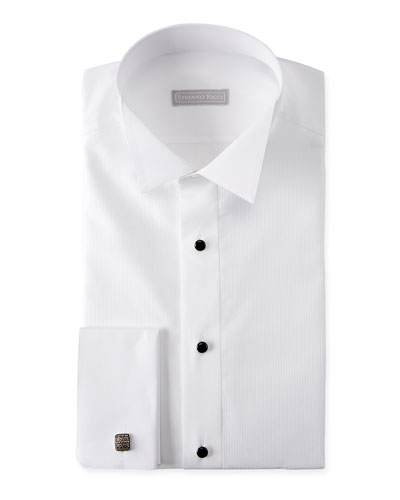 978c37b0b Quick Look. Stefano Ricci · Men's Cotton French-Cuff Tuxedo Shirt.  Available in White