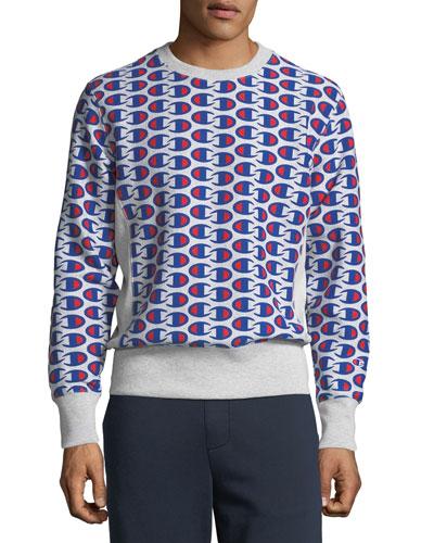 Men's Allover Logo Sweatshirt