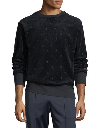 Men's Velvet Burnout Sweatshirt