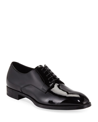 Men's Formal Patent Leather Derby Shoes