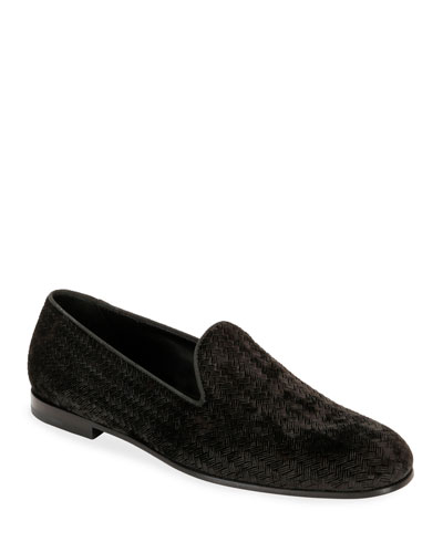 Men's Woven Velvet Formal Loafer