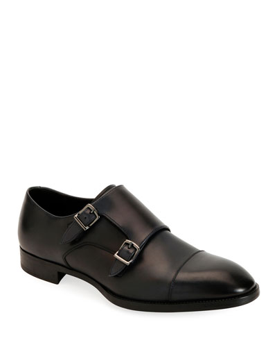 0dbb0f0cecb5 Quick Look. Giorgio Armani · Men s Leather Double-Monk Shoes