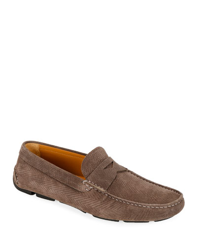 Suede Driver Shoes | Neiman Marcus