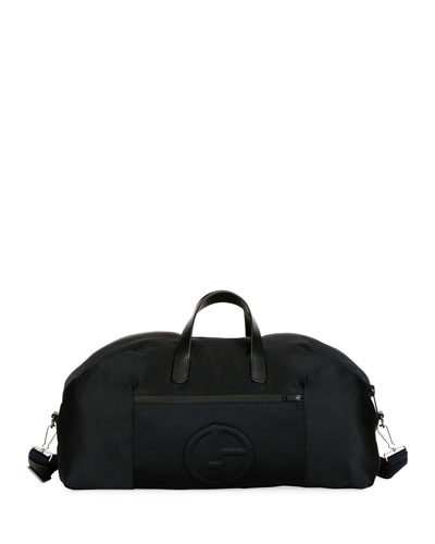Men's Nylon Carryall Duffel Bag, Black