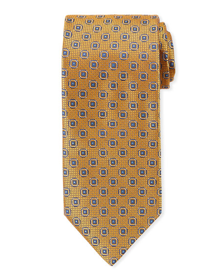 Canali Men's Satin Woven Hexagon Tie
