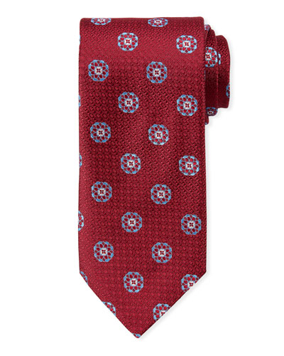 Men's Satin Circle Medallions Tie