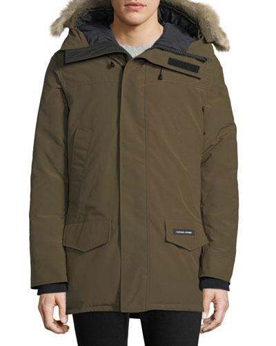 Men's Langford Arctic-Tech Parka Jacket with Fur Hood - Fusion Fit