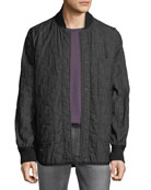 Hudson Men's Reversible Quilted Bomber Jacket
