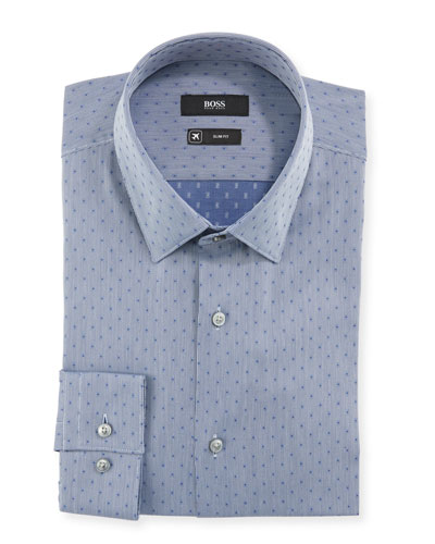 2d350b13 Quick Look. BOSS · Men's Slim Fit Dotted Travel Sport Shirt