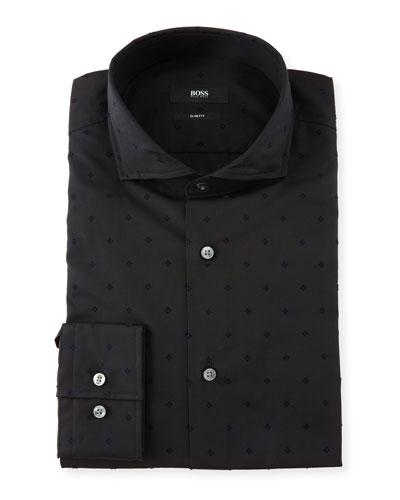 Men's Slim Fit Micro-Flower Dress Shirt