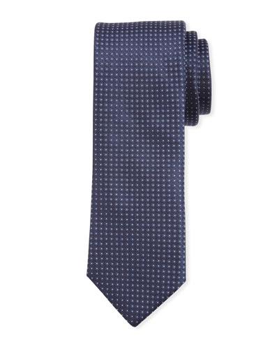 Narrow Pindot Silk Tie