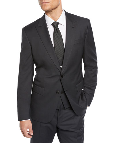 Men's Nailhead Three-Piece Suit