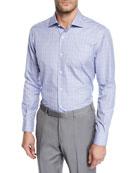 Ermenegildo Zegna Men's Grid Woven Sport Shirt