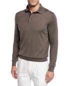 Ermenegildo Zegna Men's Cashmere/Silk Polo Sweater